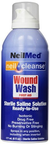 NeilMed Cleanse Sterile Saline Wound Wash, 6 Ounce, Model: , Spoorting Goods Shop by Sports World Shop