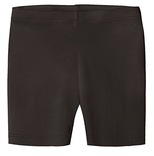 City Threads Big Girls Underwear Bike Shorts in All Cotton Perfect for SPD and Sensitive Skin Sports Dance School Uniform, Chocolate, 4