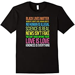 Mens Kindness Is Everything Black Lives Love Is Love TShirt XL Black