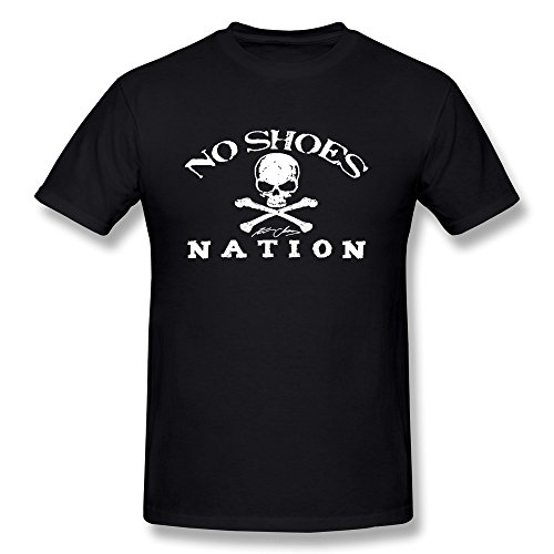 [CBOAA Kenny Chesney No Shoes Nation Flag Men's Tshirt Tee,Black] (Kenny Chesney T-shirt)