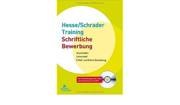 hesseschrader training schriftliche bewerbung 9783821857183 amazoncom books - Amazon Online Bewerbung