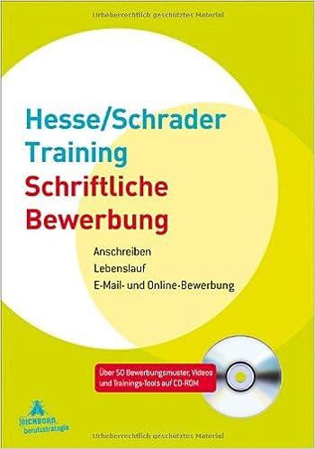hesseschrader training schriftliche bewerbung 9783821857183 amazoncom books - Schriftliche Bewerbung