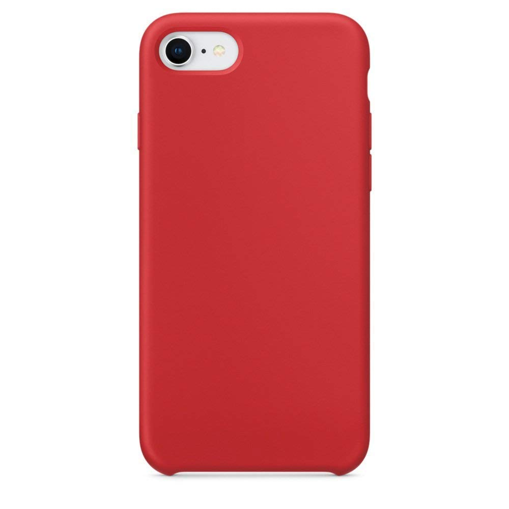 a8556d107f396 Keklle iPhone Silicone Case, Liquid Silicone Gel Rubber Shockproof and  Scratch-Proof Cover with Soft Microfiber Cloth for iPhone Case (Hot Red,  iPhone ...