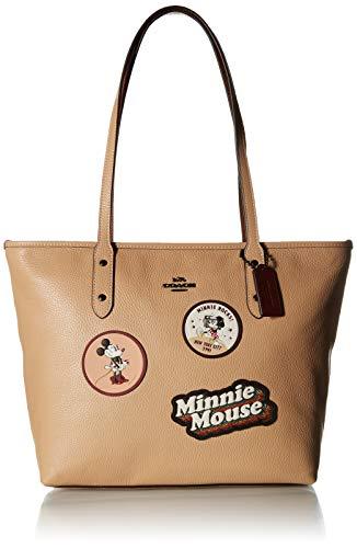COACH Women's Box Program Minnie Patches City Zip Tote Dk/Beechwood One Size