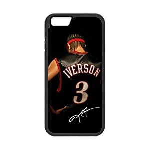 Onshop Custom Allen Iverson and Signature Pattern Phone Case Laser Technology for iphone 4 4s