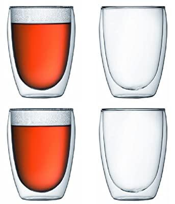 Bodum Pavina Double-wall Insulated 12-ounce Glasses - Set of 4