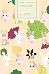 Pocket Daily Planner 2019 2020 15 Months Rabbit Bunny Planner                       (Small Mini Calendar To Fit Purse & Pocket; Ultra Portable Slim Academic Monthly & Weekly Goals Journal Appointment Schedule Organizer...
