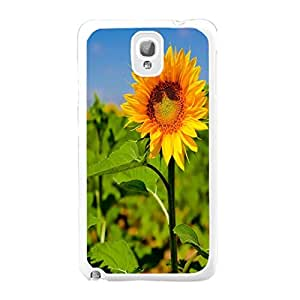 Lovely Flowers Sunflowers Print Samsung Galaxy Note 3 N9005 Cover Case Floral Pattern Design Protective Cell Phone Case Skin for Girls (sunflowers 03)