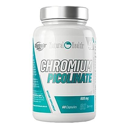 Natural Health - Picolinato de Cromo 600mg - 60 cápsulas