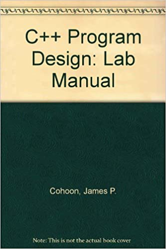Book C++ Program Design: Lab Manual