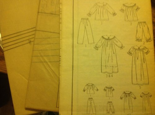 Simplicity 7574 Sewing Pattern For Misses XS S M L XL Pajamas Nightgown Muumuu Style Gathered Curved Yoke Ruffle Sleeve (Ruffle Muumuu)