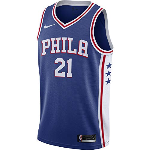 (Joel Embiid Philadelphia 76ers Nike Swingman Jersey Blue - Icon Edition (X-Large))