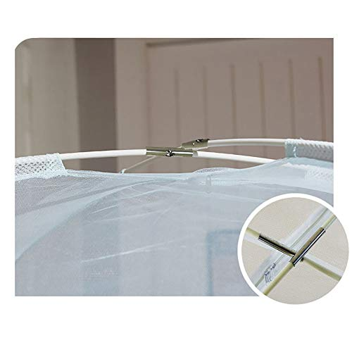Mosquito Net Bed Canopy Yurt Bed Type Two-Door Zipper Net Tent Bracket Heightening Anti-Mosquito Indoor/Outdoor Decorative Height 150CM,Pink,120200CM by LINLIN MOSQUITO NET (Image #2)
