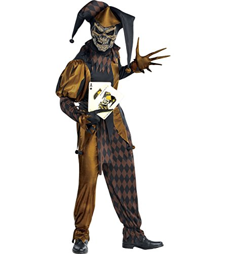 AMSCAN Jokers Wild Skeleton Halloween Costume for Men,