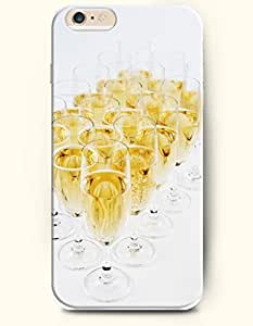 OOFIT New Apple iPhone 6 ( 4.7 Inches) Hard Case Cover - Many Goblets of Champagne by supermalls