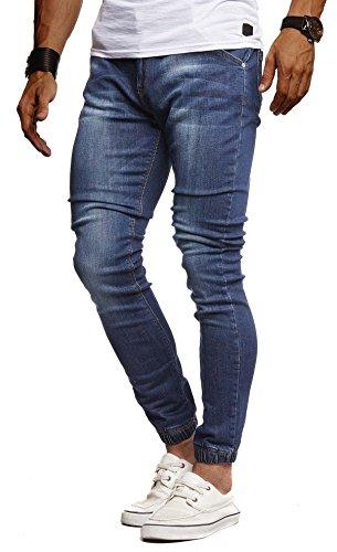 Leif Nelson Herren Jeans Hose Slim Fit Denim Blaue graue Lange Jeanshose für Männer Coole Jungen weiße Stretch Freizeithose Schwarze Cargo Chino Sommer Winter Basic LN9170