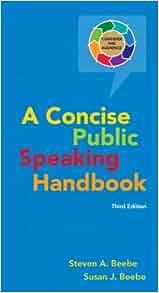 Amazon Com Concise Public Speaking Handbook 3rd Edition