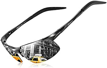 SLearn Stylish HD Lens Al-Mg Metal Frame Driving Polarized Sunglasses