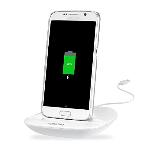Dock Station Cradle - imobi4 Universal Micro USB Desktop Charger Cradle Charging Dock for Samsung Galaxy S7, S7 Edge S6, S6 Edge, S6 Active, Sony Xperia Z5, Huawei P8/P7/Mate 7/Honor 6 and More - White