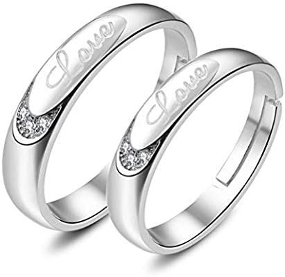 925 Sterling Silver Ring Women Personality Letter Love Forever
