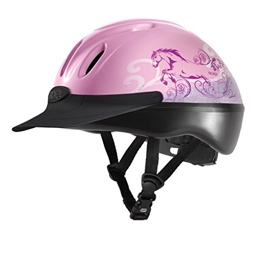 Troxel Spirit Pink Dreamscape #1 Selling Schooling Riding Safety Helmet SEI Certification (Medium) (Spirit Troxel Schooling Helmet)