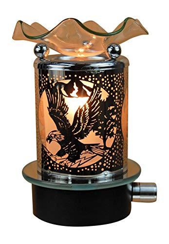 Electric Glass Metal Plug in No Cord Night Light Tart Burner Oil Warmer Night Light Clear Eagle Design