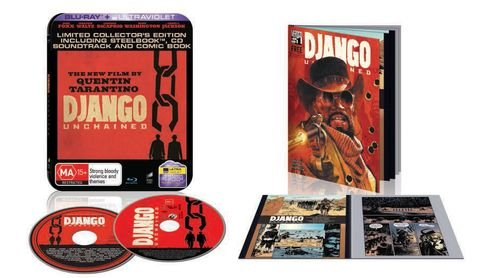 Django Unchained Limited Edition Steelbook with Bonus Soundtrack and Comic Book [Blu-ray] [Region Free]