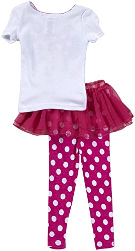 Minnie Mouse 3pc Cotton Pajama Set with Tutu, Girls Toddler Size 3T Pink