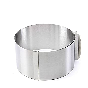VKING Molde De Tartas Ajustable Desde Aprox. 16 - 30 cm Acero Inoxidable Molde Redondo Para Tartas Ajustable Para DIY Pastel: Amazon.es: Hogar