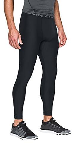 Under Armour Men's HeatGear Armour Compression Leggings, Black/Graphite, Medium