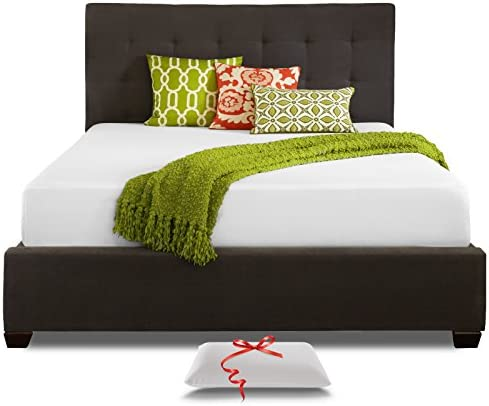 Full Mattress, Live Sleep 10-Inch Cool Memory Foam Bed in a Box, Medium Firm, Includes Premium Pillow, Better Pressure Relief Support, Certi-Pur Certified, 20 Year Warranty, Full Size.