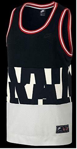 AIR MESH エア メッシュ タンクトップ S/L バスケットボール ノースリーブシャツ メンズM(163-175cm) 国内正規品 AR1844 ブラック×ホワイト