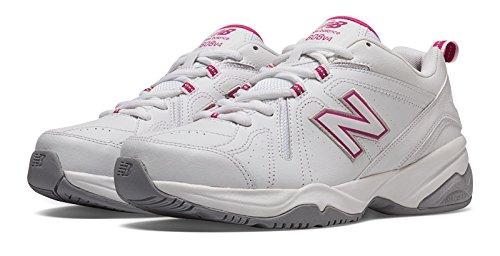 インタビュー成功別れる(ニューバランス) New Balance 靴?シューズ レディーストレーニング Womens New Balance 608v4 White with Exuberant Pink ホワイト ピンク US 11 (28cm)