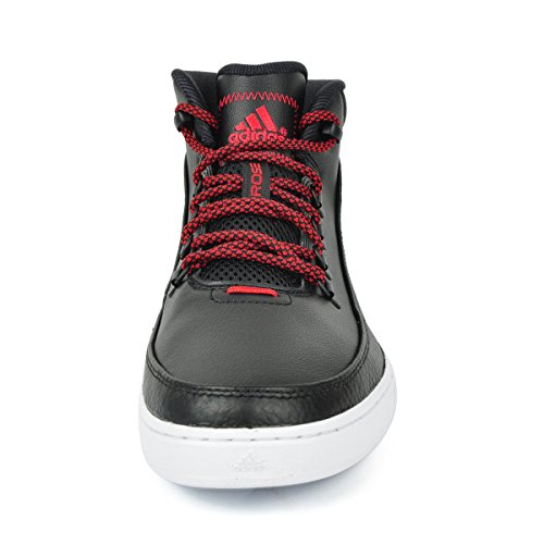 adidas Herren Basketballschuhe Mens Basketball Sneakers Derek Rose Lakeshore Mid Sports Shoes Trainers Boots Black/Red B72809