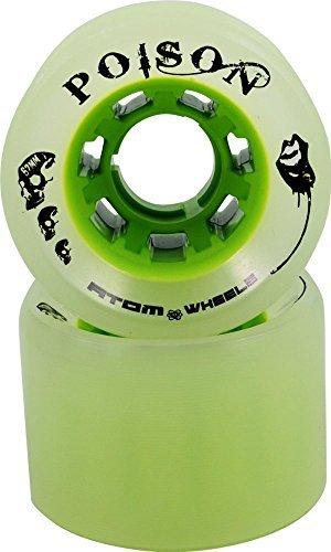 Atom Poison Slim Wheels - Poison Slim Skate Wheel - Hybrid Derby Wheel [並行輸入品]