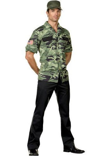 [Sergeant Lou Tenet Adult Costume - Medium (38-40)] (Lieutenant Costumes)