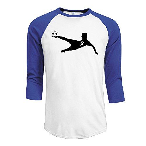 Cool Portugal #7 Football Player Men 3/4 Sleeve Raglan Tee &Top RoyalBlue - Liverpool 3 Shop Street