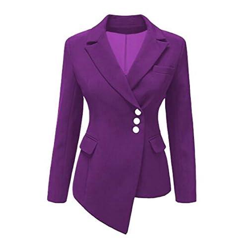 New ARTFFEL-Women Fashion Lapel Asymmetric OL Work Blazer Jacket Suit Coat