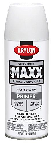 - Krylon K09188000 COVERMAXX Primer, White, 12 Ounce