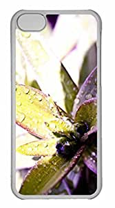 iPhone 5C Case, Personalized Custom Flower Boomin for iPhone 5C PC Clear Case