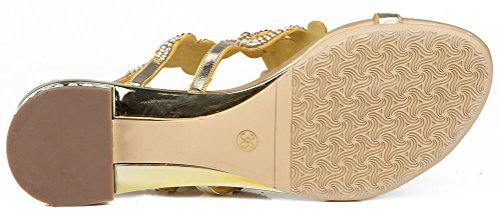 Pregnant Performance Bride Bridemaid Work Shoes Party Dress Pretty Leisure Glaring L039 Falts Beautiful Antiskid Womens Salabobo Job Rhinestone Gold Wedding qYTPvc
