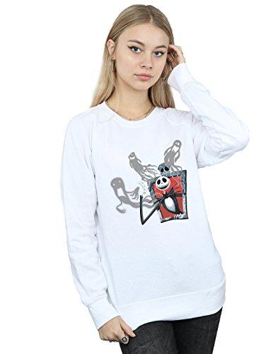 Entrenamiento Disney Camisa Christmas Before Of Blanco Mujer Jack Ghosts Nightmare De Z0qzprAZw