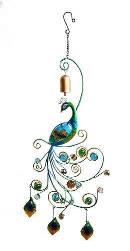 Continental Art Center CAC12454 2 Peacock Wall Decor, 11.02 by 1.38 by 30.71-Inch (Lights Stained Wall Outdoor Glass)