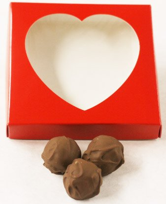 Chocolate Lime Milk (Scott's Cakes Milk Chocolate Covered Key Lime Fruit Truffles in a 8 oz. Heart Box)