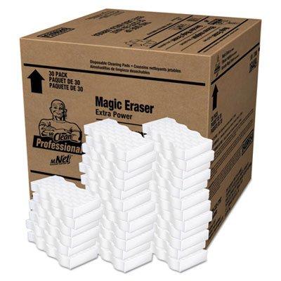 Mr. Clean Magic Eraser Extra Power, 4 3/5 inch x 2 2/5 inch, 7/10 inch Thick, White, 30/Carton