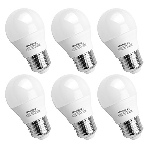 A15 LED Bulb 40Watts Incandescent Bulb Equivalent, Kakanuo G45 Medium Base E26 LED Light Bulbs, Warm White 2700K 400Lumens Non Dimmable Appliance Light Bulb for Home Lighting Decorative(6 Pack)