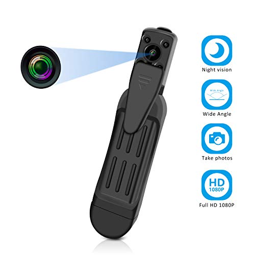 Hidden Camera - HD1080P Mini Pocket Camera with Night Vision Portable Body Camera for Outdoor or Meeting