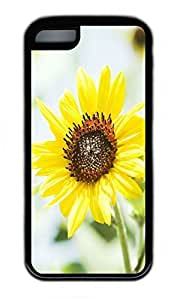iPhone 5C Case, Personalized Protective Rubber Soft TPU Black Edge Case for iphone 5C - Sunflower Beauty Cover by icecream design