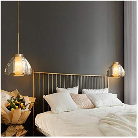 YJPDCM Nordic bedroom bedside chandelier, long-line personality corridor lights, aisle lights, light glass chandeliers, minimalist designer net red restaurant bar table lamp