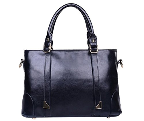 BG® Women PU Leather Black Minimalist Occident Style Casual Handbags